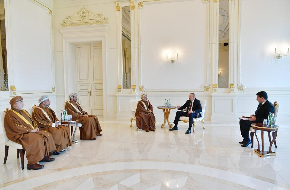 President Ilham Aliyev receives delegation led by President of Oman State Council (PHOTO) - Gallery Image