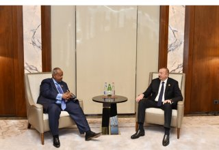Ilham Aliyev meets Djiboutian President Ismail Omar Guelleh