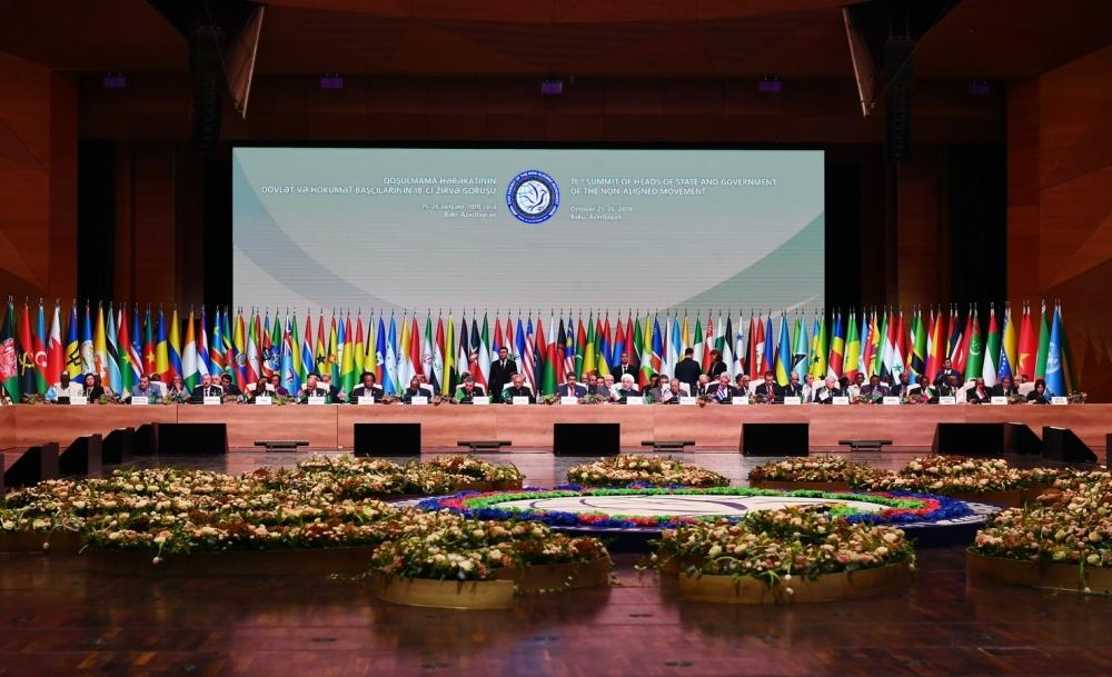 NAM summit: 120 countries supported Azerbaijan's efforts to restore its territorial integrity
