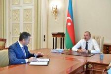 President Ilham Aliyev receives chairman of Azercosmos (PHOTO) - Gallery Thumbnail