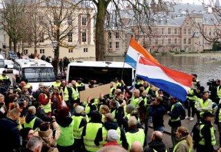 В Амстердаме вновь прошли протесты