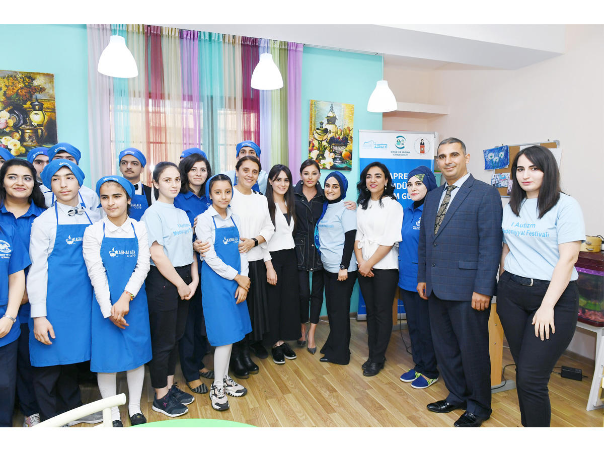 Azerbaijan's First VP visits Rehabilitation Center for children with autism (PHOTO)