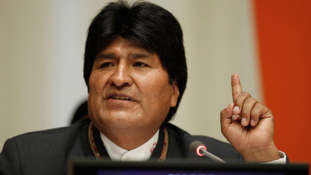 Bolivia's Morales denounces protests by 'violent groups'