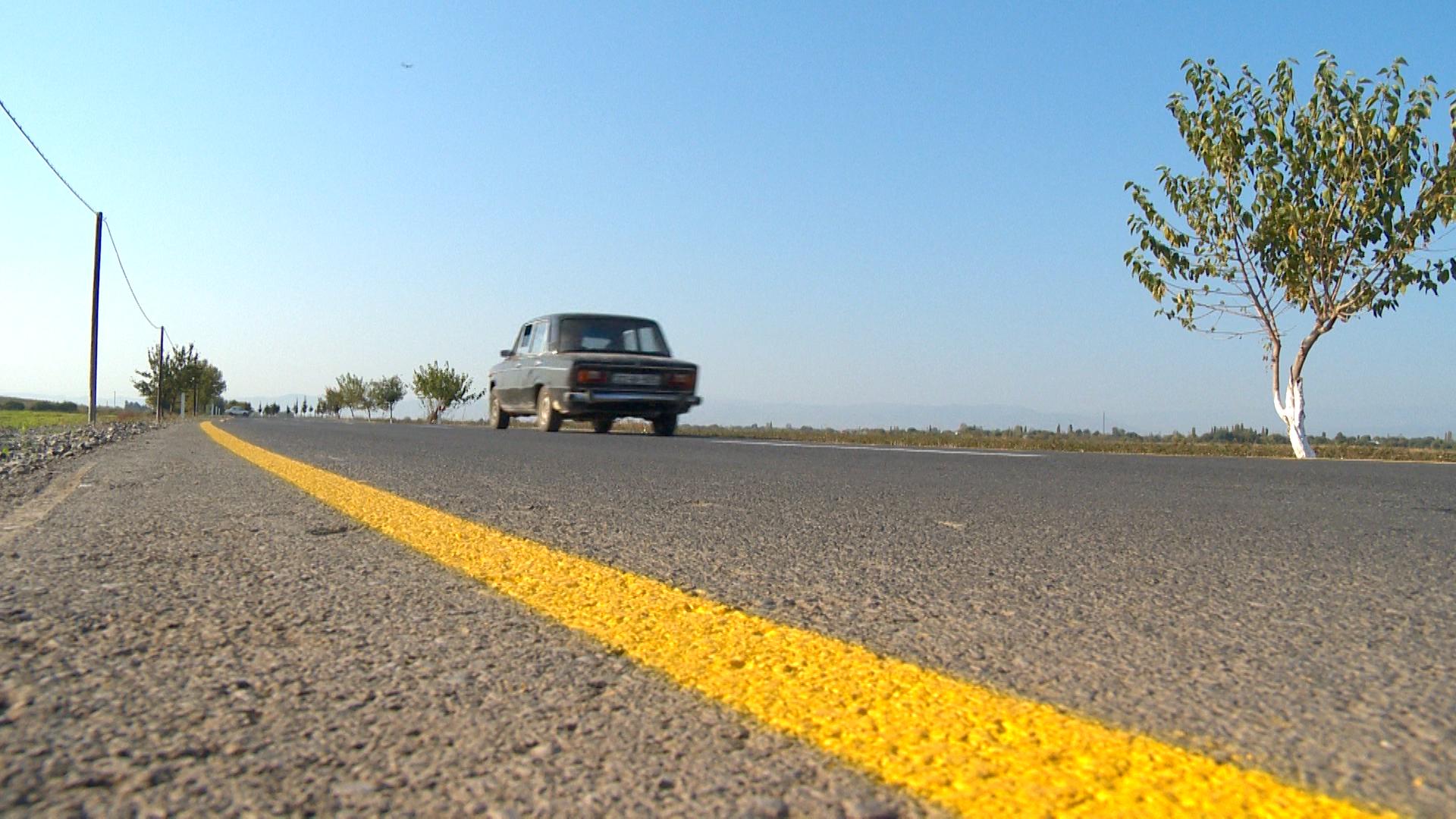 Ağcabədidə 18 km uzunluğunda yerli əhəmiyyətli yol yenidən qurulub (FOTO) - Gallery Image