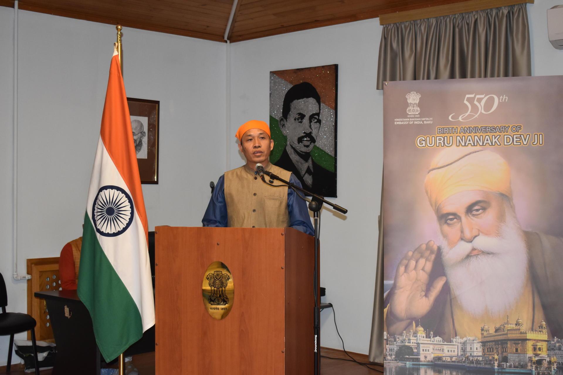 Embassy of India celebrates 550th Birth Anniversary of Guru Nanak Devji (PHOTO) - Gallery Image