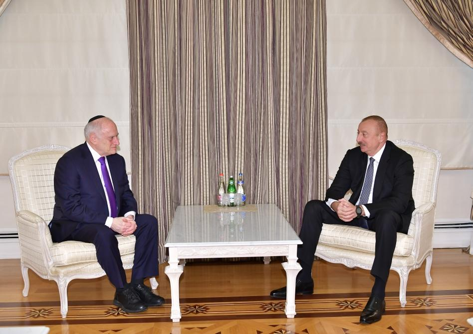 Azerbaijani president receives Executive Vice Chairman/CEO of Conference of Presidents of Major Jewish Organizations (PHOTO) - Gallery Image