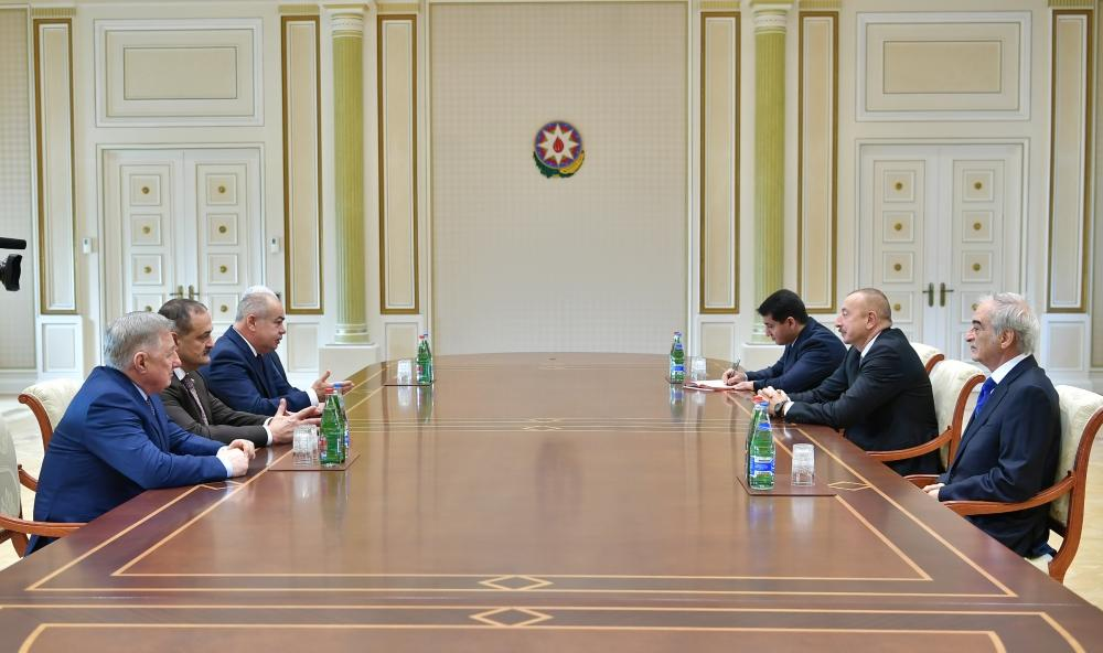 President Aliyev receives deputy chairman and committee chair of Russia, chairman and adviser to chairman of People's Assembly of Dagestan (PHOTO) - Gallery Image
