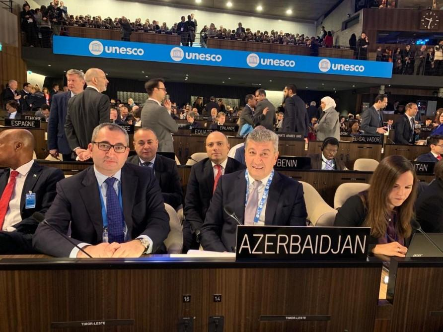 Azerbaijan elected vice-president of UNESCO General Conference 40th session