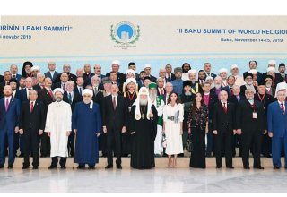 Azerbaijan's president, first lady attend 2nd Summit of World Religious Leaders in Baku (PHOTO)