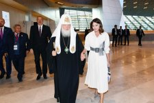 Президент Ильхам Алиев и Первая леди Мехрибан Алиева приняли участие во II Саммите мировых религиозных лидеров в Баку (ФОТО) - Gallery Thumbnail