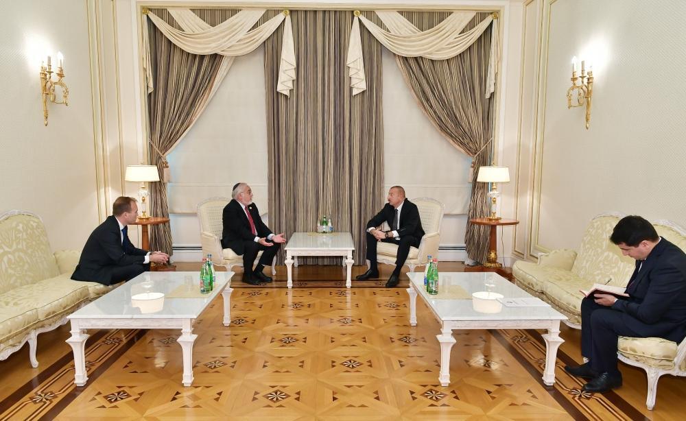 Президент Ильхам Алиев принял соучредителя и заместителя председателя Центра Симона Визенталя и руководителя Конгресса христианских лидеров США (ФОТО) - Gallery Image