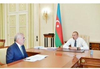 Azerbaijani president receives head of Supreme Majlis of Nakhchivan Autonomous Republic (PHOTO)