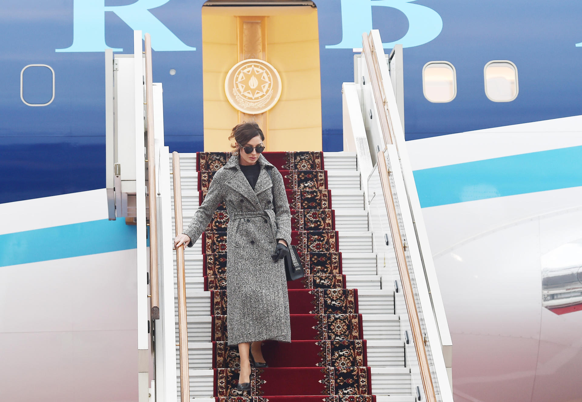 Azerbaijan's First VP Mehriban Aliyeva arrives in Russia for official visit (PHOTO) - Gallery Image