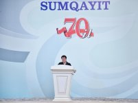 President Ilham Aliyev attends event marking 70th anniversary of Sumgayit (PHOTO) - Gallery Thumbnail