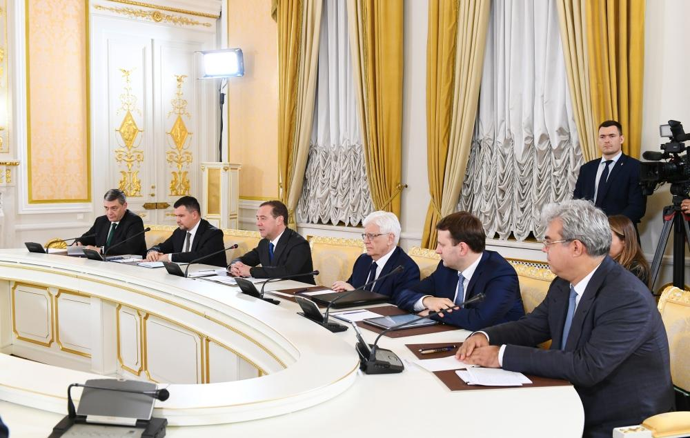 First Vice-President Mehriban Aliyeva met with Chairman of Russian Government Dmitry Medvedev (PHOTO) - Gallery Image