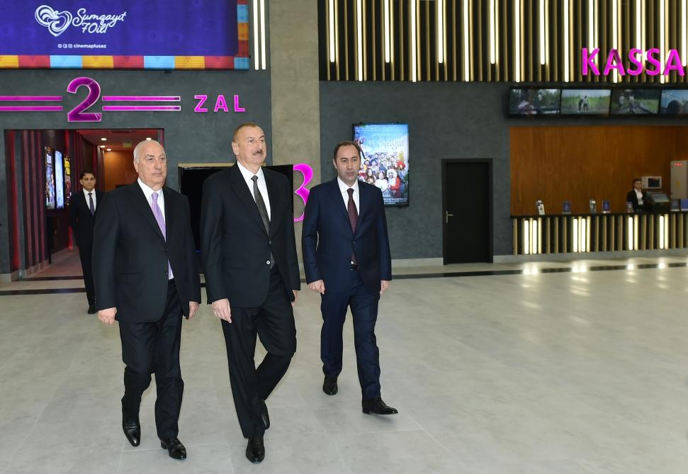 Azerbaijani president inaugurates new building of Nizami cinema in Sumgayit (PHOTO) - Gallery Image