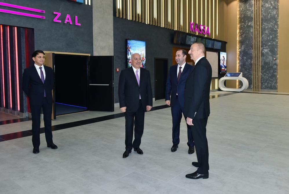 Azerbaijani president inaugurates new building of Nizami cinema in Sumgayit (PHOTO)