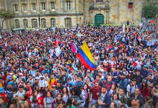 Protests roll on for third day in Colombian capital