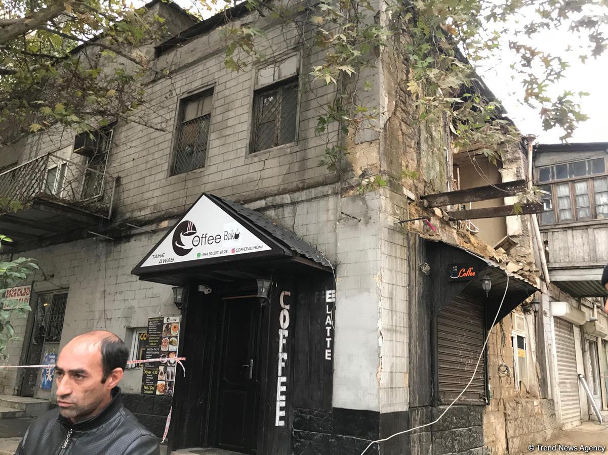 Bakıda ikimərtəbəli yaşayış binası çökdü (FOTO) - Gallery Image