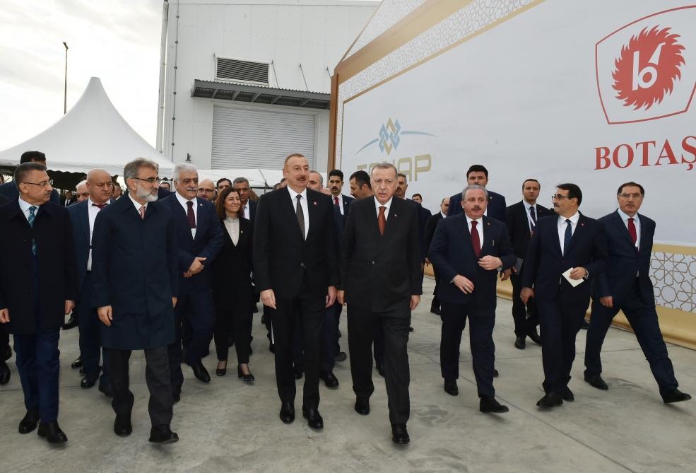 Президент Ильхам Алиев принял участие в церемонии открытия части проекта TANAP, соединяющейся с Европой (ФОТО) - Gallery Image
