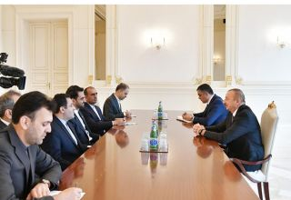 President Aliyev receives delegation led by Iranian minister of information and communications technology (PHOTO)
