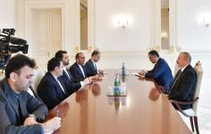 President Aliyev receives delegation led by Iranian minister of information and communications technology (PHOTO) - Gallery Thumbnail