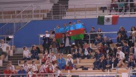 Азербайджанские гимнасты заняли второе место на мировых соревнованиях возрастных групп по прыжкам на батуте (ФОТО) - Gallery Thumbnail