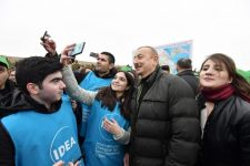 President Ilham Aliyev, First Lady Mehriban Aliyeva attend tree-planting campaign in Shamakhi district (PHOTO) - Gallery Thumbnail