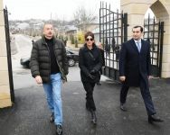 Azerbaijani president, first lady view landscaping work done around Shahkhandan tomb in Shamakhi (PHOTO) - Gallery Thumbnail