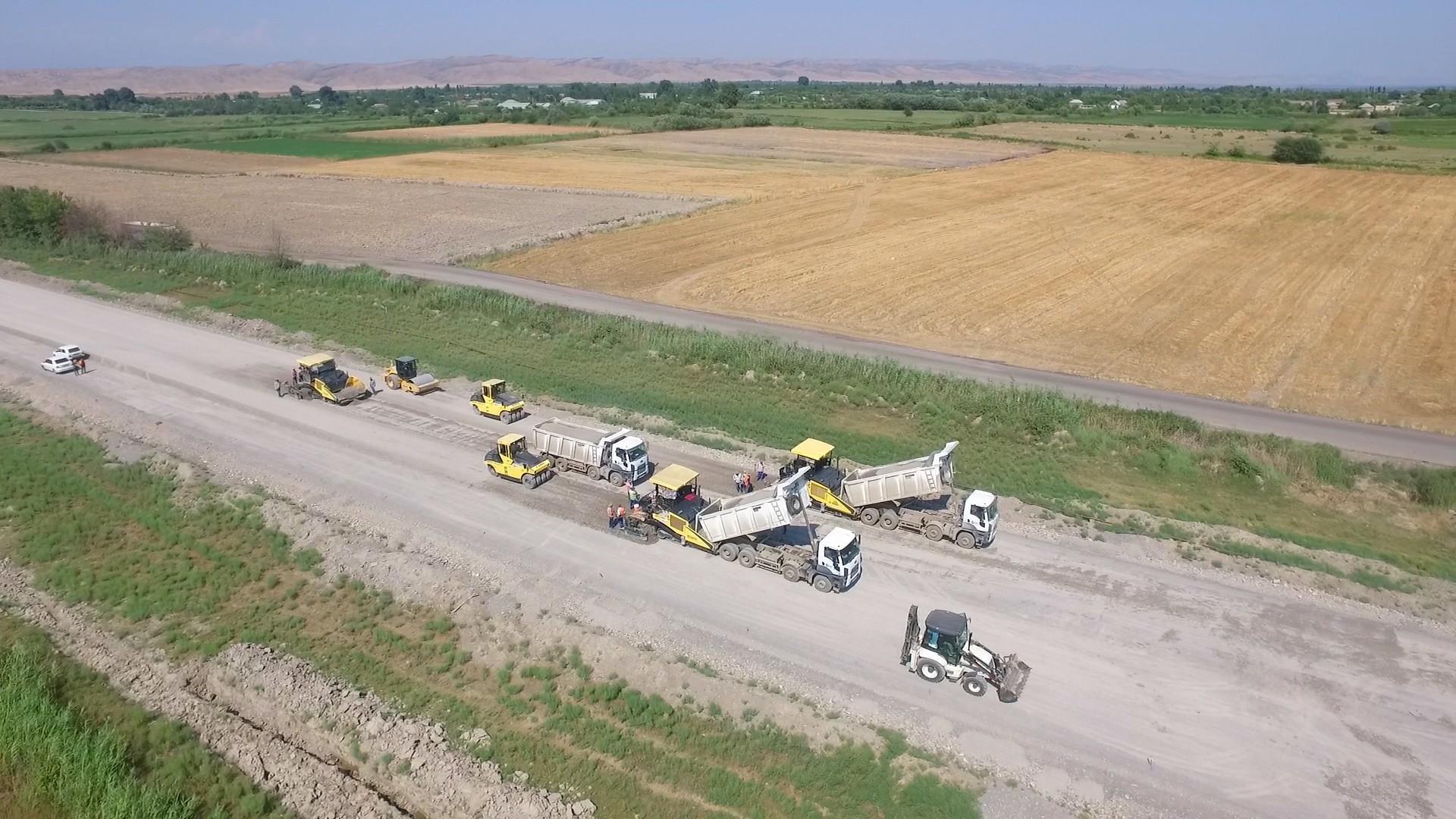 В Азербайджане реконструируется автодорога Халдан-Шеки и въезд в город Шеки (ФОТО) - Gallery Image