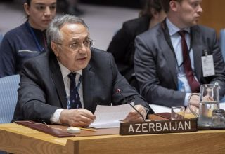 Azerbaijan's representative to UN talks on Armenia's policy in committing genocide against Azerbaijanis and heroization of Nazis