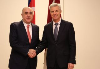 Azerbaijani FM meets with Minister of Defense of Latvia (PHOTO)