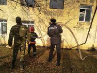 Qubada orta məktəb binası yandı (FOTO) - Gallery Thumbnail