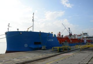 Azerbaijan's Lachin tanker on its first voyage, en route to Kulevi port
