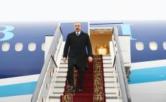 Azerbaijani president arrives in Russian Federation for visit (PHOTO) - Gallery Thumbnail