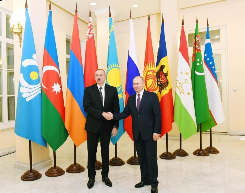 Президент Ильхам Алиев принял участие в неформальной встрече глав государств СНГ (ФОТО) - Gallery Image