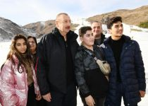 President Ilham Aliyev, First Lady Mehriban Aliyeva view work done at Shahdag Tourism Center (PHOTO/VIDEO) (UPDATE) - Gallery Thumbnail