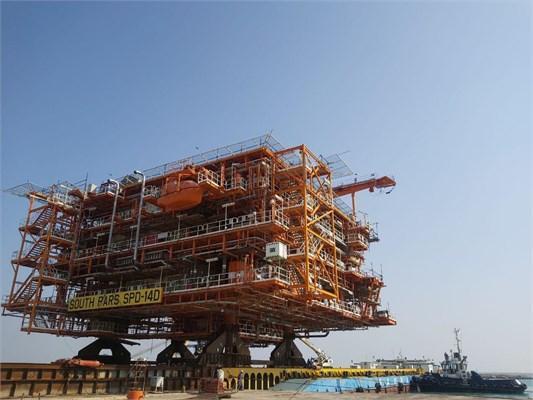 Последняя платформа иранского газового месторождения Южный Парс будет отправлена на 14-ю фазу