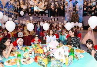 First Vice-President Mehriban Aliyeva attends traditional New Year party for children arranged by Heydar Aliyev Foundation (PHOTO/VIDEO)