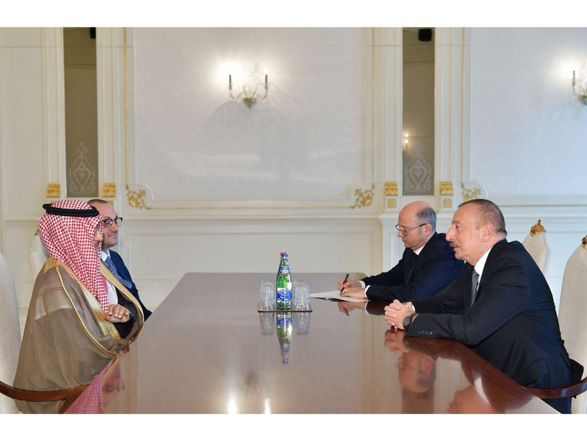 President Ilham Aliyev receives Chairman of Board of ACWA Power and Chief Executive Officer of Masdar (PHOTO)