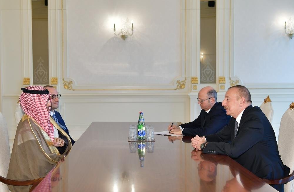 President Ilham Aliyev receives Chairman of Board of ACWA Power and Chief Executive Officer of Masdar (PHOTO) - Gallery Image