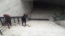 Bakıda avtomobil yollarında olan yeraltı piyada keçidləri təmizlənir (FOTO) - Gallery Thumbnail