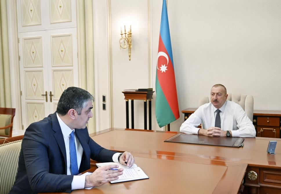 President Ilham Aliyev receives Minister of Transport, Communications and High Technologies (PHOTO) - Gallery Image