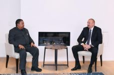 President Ilham Aliyev meets OPEC Secretary General in Davos (PHOTO) - Gallery Thumbnail