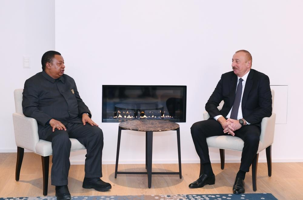 President Ilham Aliyev meets OPEC Secretary General in Davos (PHOTO) - Gallery Image
