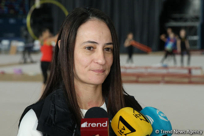 Israeli gymnastics coach: We like to perform in Baku, always family atmosphere here