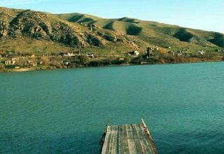 ETSN: Mingəçevir su anbarının səviyyəsi aşağı düşüb (FOTO)