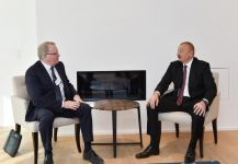Azerbaijani president meets with Chief Executive Officer of Equinor in Davos (PHOTO) - Gallery Thumbnail