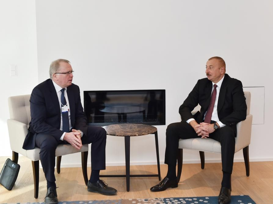Azerbaijani president meets with Chief Executive Officer of Equinor in Davos (PHOTO) - Gallery Image