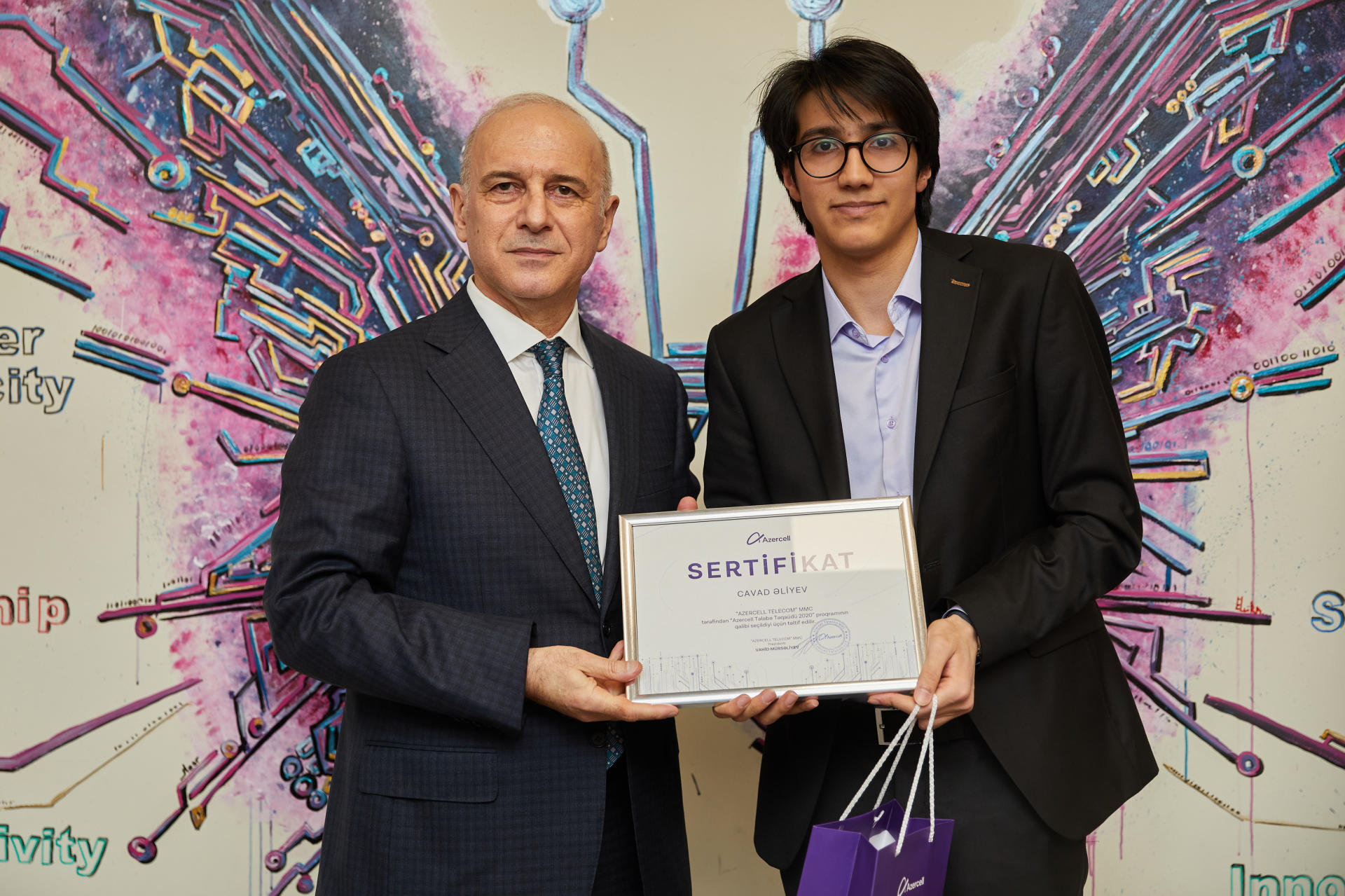 """28 students awarded honorary title of """"Azercell's  Scholars"""" (PHOTO) - Gallery Image"""